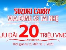 GIẢM GIÁ KHỦNG 20 TRIỆU DUY NHẤT CHO DÒNG CARRY PRO TỪ 23 ĐẾN 31-3-2020