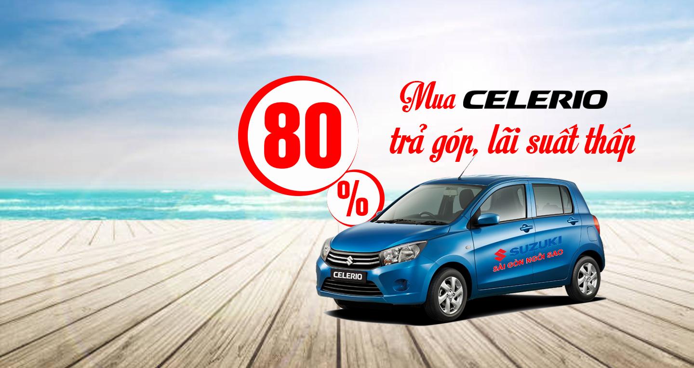 Suzuki Celerio trả góp 80%
