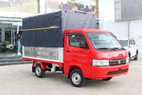 Mẫu Carry Pro 2021 thùng mui bạt màu đỏ