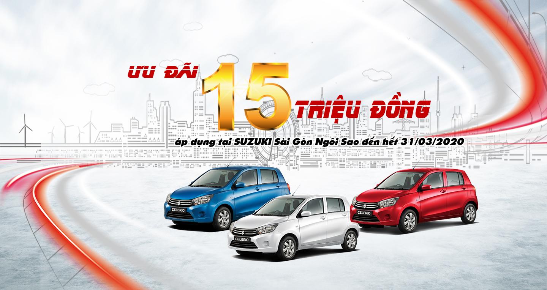 Khuyến mãi Suzuki Celerio tháng 3-2020